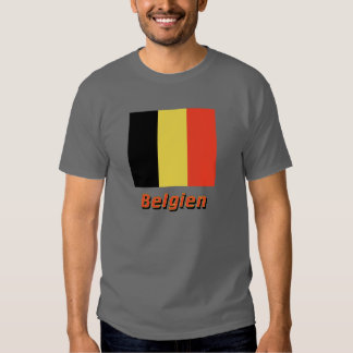 Belgien Flagge mit Namen Shirt