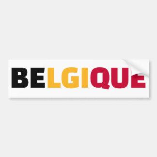 Belgique Bumper Sticker