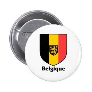 Belgique Crest / Belgium Flag 6 Cm Round Badge
