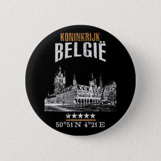 Belgium 6 Cm Round Badge