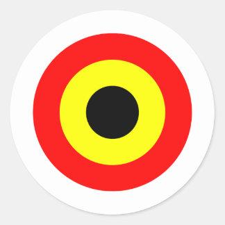 Belgium Air Force Roundel Classic Round Sticker