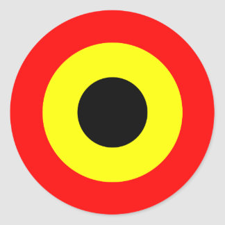 Belgium Air Force Roundel Round Sticker