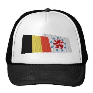 Belgium and German Speaking Community Waving Flags Cap