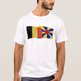 Belgium and West Flanders Waving Flags T-Shirt