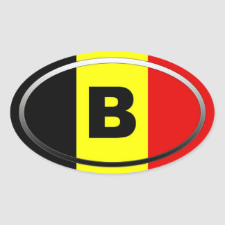 Belgium - B - European Oval Sticker