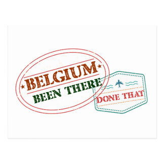 Belgium Been There Done That Postcard