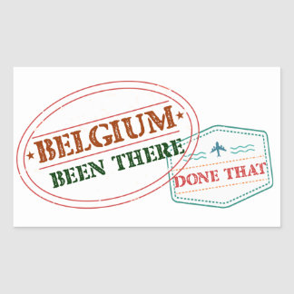 Belgium Been There Done That Rectangular Sticker
