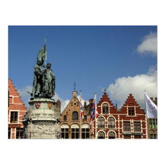 Belgium, Brugge (aka Brug or Bruge). UNESCO Postcard