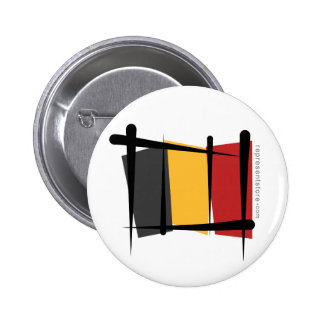 Belgium Brush Flag Pin