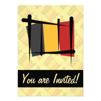 Belgium Brush Flag Invites
