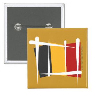 Belgium Brush Flag Pinback Button