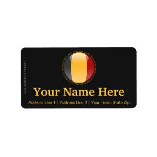 Belgium Bubble Flag Address Label