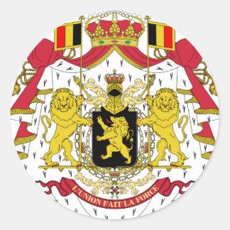 Belgium coat of arms classic round sticker