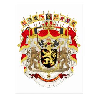 Belgium Coat of Arms Postcard