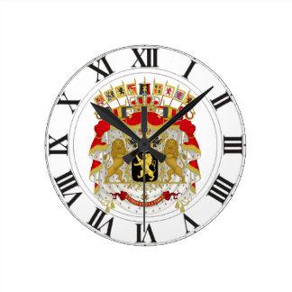 Belgium Coat of Arms Round Clock