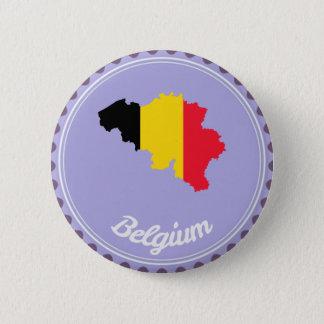 Belgium country 6 cm round badge