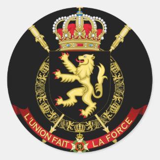 belgium emblem classic round sticker