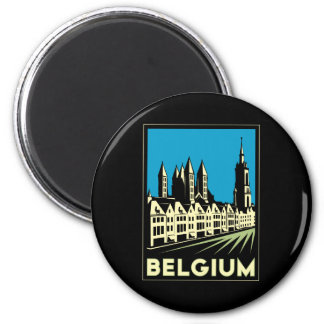 belgium europe art deco retro travel vintage magnet