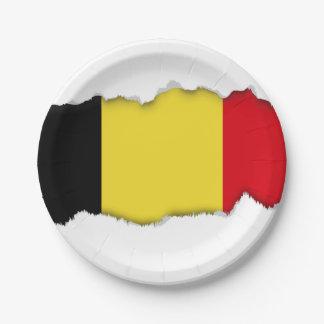 Belgium Flag 7 Inch Paper Plate