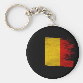 Belgium Flag Basic Round Button Key Ring