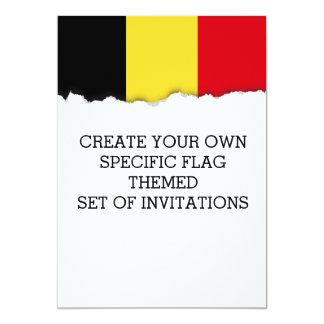 Belgium Flag Card