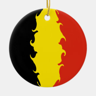Belgium Flag Christmas Tree Ornaments