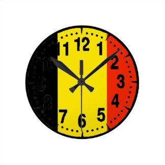 Belgium Flag Clocks