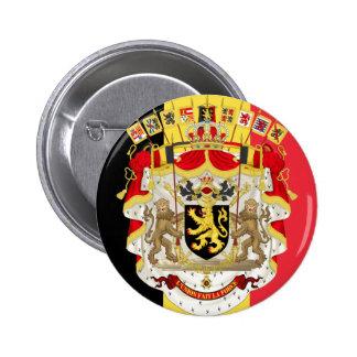 Belgium Flag COA Pinback Buttons