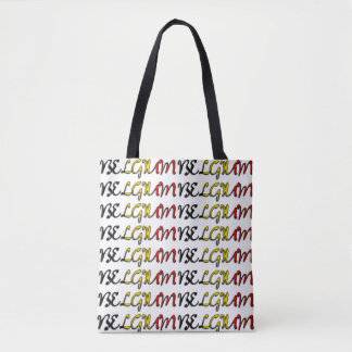 Belgium Flag Color Typography European Country Bag Tote Bag