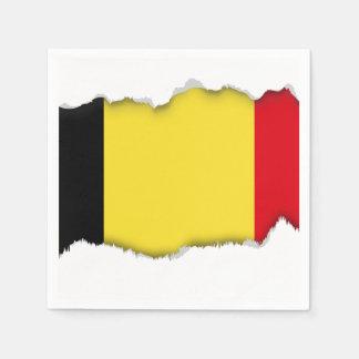 Belgium Flag Disposable Napkins