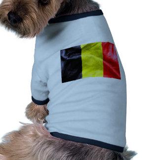 Belgium Flag Ringer Dog Shirt
