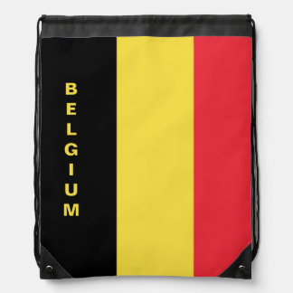 Belgium Flag Drawstring Backpack