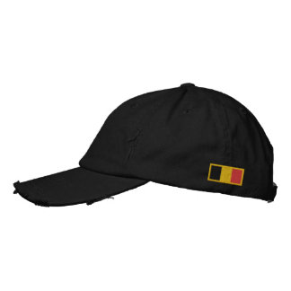 Belgium Flag Embroidered Hats