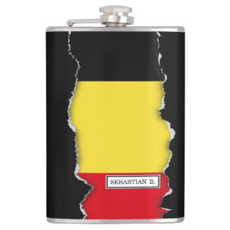 Belgium Flag Flask