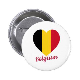 Belgium Flag Heart Button