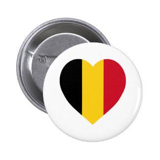 Belgium Flag Heart Buttons