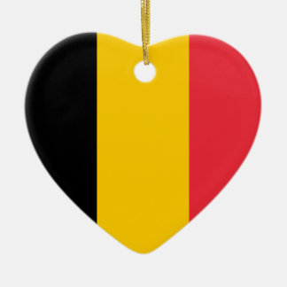 Belgium Flag Heart Ornament