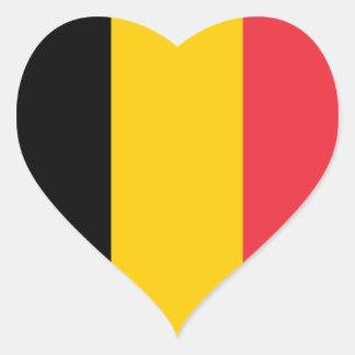 Belgium Flag Heart Sticker