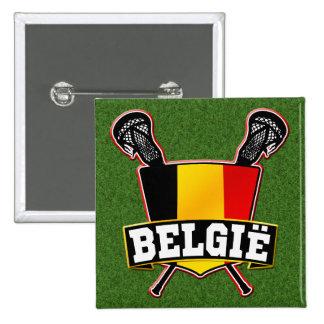 Belgium Flag Lacrosse Logo Pin