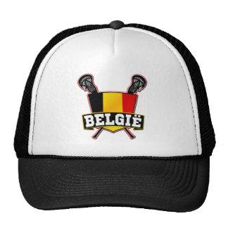 Belgium Flag Lacrosse Logo Mesh Hat