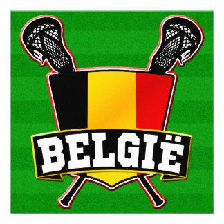 Belgium Flag Lacrosse Logo Invites