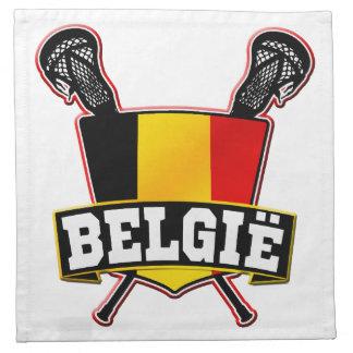 Belgium Flag Lacrosse Logo Cloth Napkin