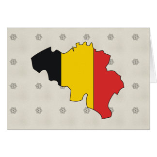 Belgium Flag Map full size Card