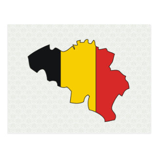 Belgium Flag Map full size Postcard