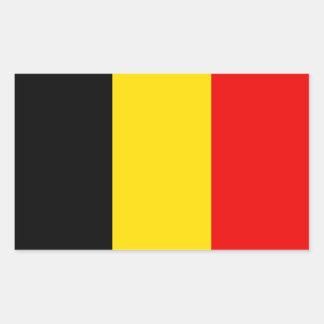 Belgium Flag Rectangular Sticker