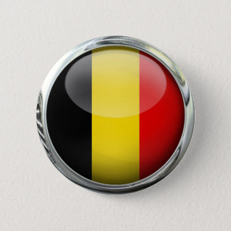 Belgium Flag Round Glass Ball 6 Cm Round Badge