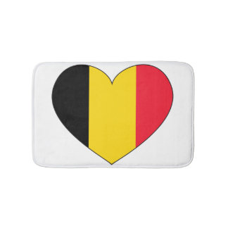 Belgium Flag Simple Bath Mats