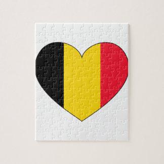 Belgium Flag Simple Jigsaw Puzzle