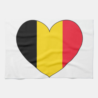 Belgium Flag Simple Tea Towel