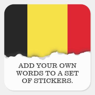 Belgium Flag Square Sticker